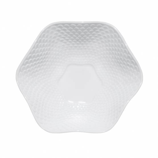 Porcelain bowl ❖ scale pattern, white