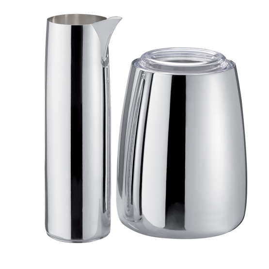 "Silver carafe & ice bucket ""New-York"""