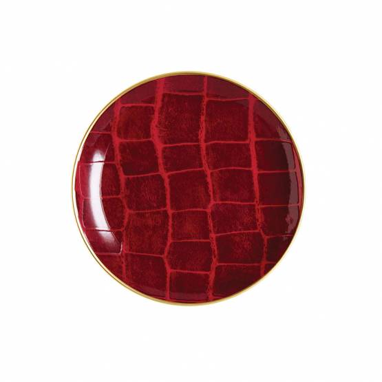 "Bread plate ""Hermes"" red"