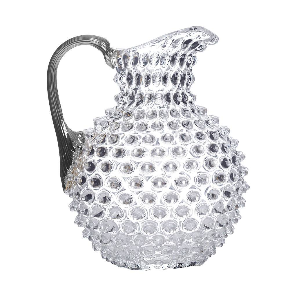 "Water pitcher ""platin"" Nuppenglas crystal glass"